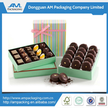 Custom AM Packaging Design Handmade Chocolate Box Paper Cardboard Chocolate Packaging Gift Boxes Wholesale in Dongguan