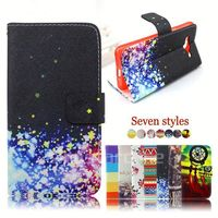 pu leather flip case for samsung galaxy trend i699 cover