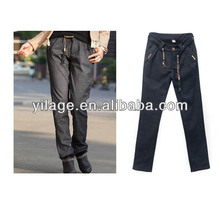 Women's Leisure Slim Low Waist Zip Fly Flexible Cotton Boot Cut Long Pants L1259