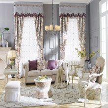 Factory supplier classical embroidery window curtains for the living room
