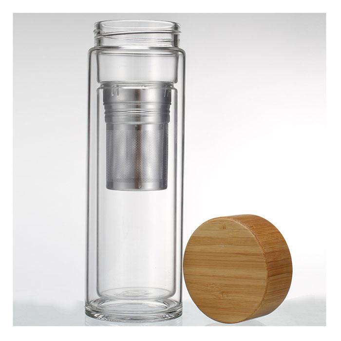 Zogift double paroi en verre bouteilles fabricant vente verre th infuser bouteille d 39 eau avec - Bouteille d eau en verre ikea ...