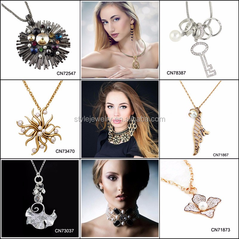 CN73520 wholesale cheap fashion jewelry plated silver necklace square cz Crystal necklaces