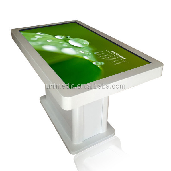 Indoor wifi floor stand 42 inch full HD diy multi touch interactive table