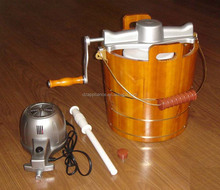 Ice Cream Maker(Wooden bucket ice cream maker, original manual ice cream maker)