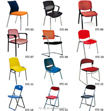 Guangzhou supplier wholesale metal frame leather office chair without wheels