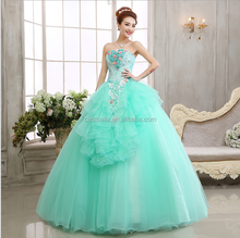 Vintage Ball Gown off Shoulder Bridal Gowns Cinderella Light Blue Performance Dress for Girls Evening Gowns 2017