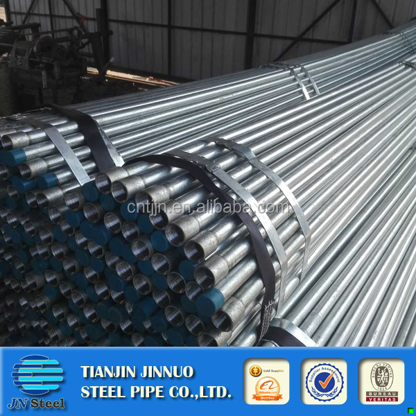 "Galvanized pipes of 2 3/8 "" OD x 1/8"" thick x 21 ft long from China"