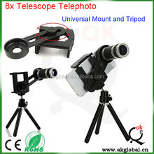 2015 hot new products smart phone accessories 8x zoom telephoto telescope for iphone 6 plus 5s samsung galaxy s4 note4 xiaomi