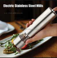 Electric Stainless Steel Pepper Mills / Salt Pepper Mill Grinder / salt and pepper grinder