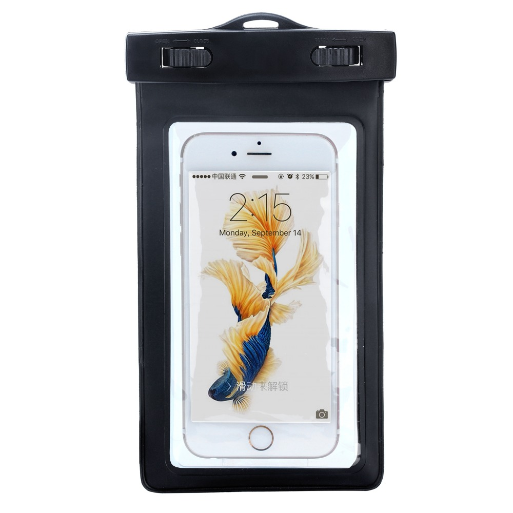 Hot sales waterproof cell phone dry bag for Samsung s9 for iphone 8plus outdoor beach waterproof bag case