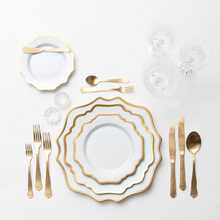 Wholesale Dinnerware Sets Luxury Ceramic Besteck Gold <strong>Plates</strong>