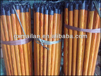 cheap pvc wooden handle for broom/wooden stick for broom with best quality