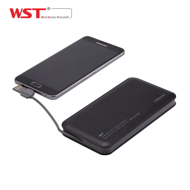 Factory wholesale alibaba POWER BANK 12000mAh Portable Mobile <strong>Battery</strong> New design Built in Micro USB
