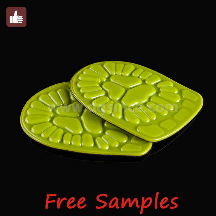 Hot selling silicone pu gel anti-slip heel pads cushion massage foot care heel support insole