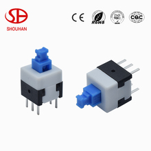 8*8 8X8 Self-locking push Switch 6 pin push button switch