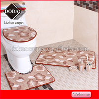 3pcs polyester toliet seat/cover toilet set/ cover toilet bath mats