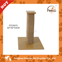 Square post Wooden cat tree cat scratching post