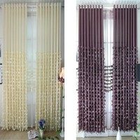 Finished Fabric Bedroom Windows Blackout Curtains Simple Modern Style