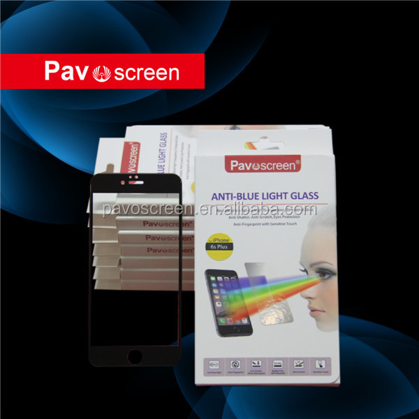 Pavoscreen 9H anti scratch for iPhone tempered glass screen protector with 96% transmittance