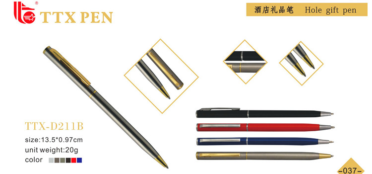 black thin metal pen,hot selling metal pen,metal marking pen