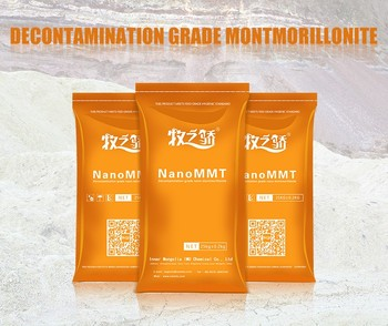 Decontamination grade montmorillonite/acid activated bleaching clay
