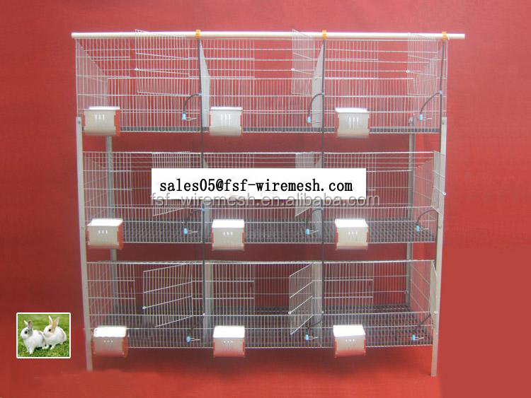 9door rabbit cage / commercial rabbit cage / meat rabbit cage-1.8x0.6x1.5m in size