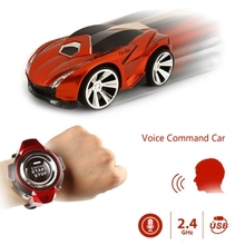 Hot 2.4GHz Mini RC Car Voice Command Car Smart Watch Remote Control Sports Car Toy