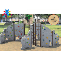 Kids outdoor climbing wall plastic anti-corrosion wholesale children climb