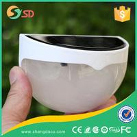 Outdoor 0.55W solar power 4 LED wall motion sensor solar light for garden