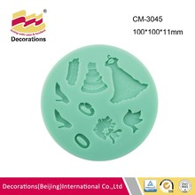 Multi hole ball theme silicone fondant mold for fondant chocolate candy soap clay resin craft mini skirt high-heeled shoes ring