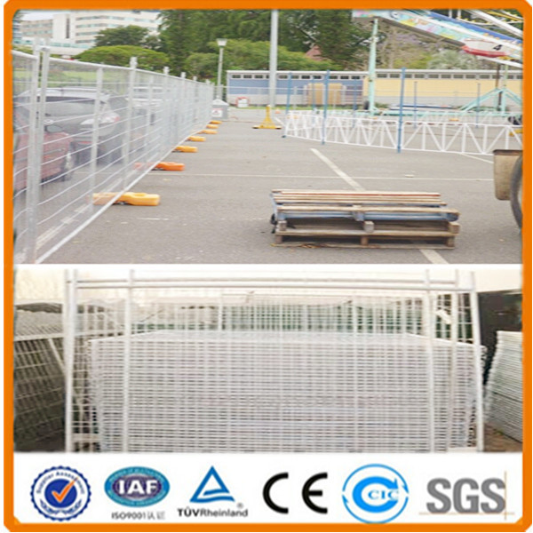 2016 hot sale Low carton iron metal temporary fence/ornamental woven temporary wire fence/6ft temporary fencing panels