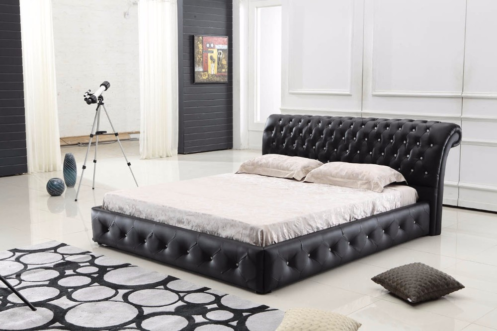 High quality leather bed modren design bedroom furniture C019