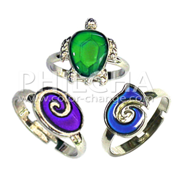 Fashion Children Kids Jewelry Mood Stone Adjustable Finger Rings