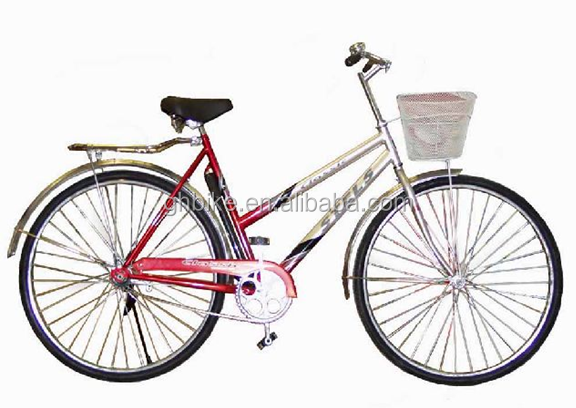 Factory built in 1988 28inch Classical city bike for lady,with carrier and basket