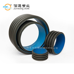 Large Diameter 12 24 inch 500mm standard length size black plastic hdpe drain tube double wall corrugated drainage pipe prices