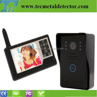 2.4GHz 3.5 inch video door phone built-in 16ps door chords night vision camera