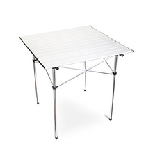 Roll Up Portable lightweight Folding Camping Square Aluminum Picnic Table With Carry Bag
