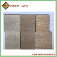 Wire brushed white oak multi layer engineered wood