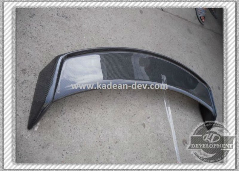 SKYLINE R35 GTR MINES STYLE REAR TRUNK SPOILER WING WITH BASE CARBON FIBER