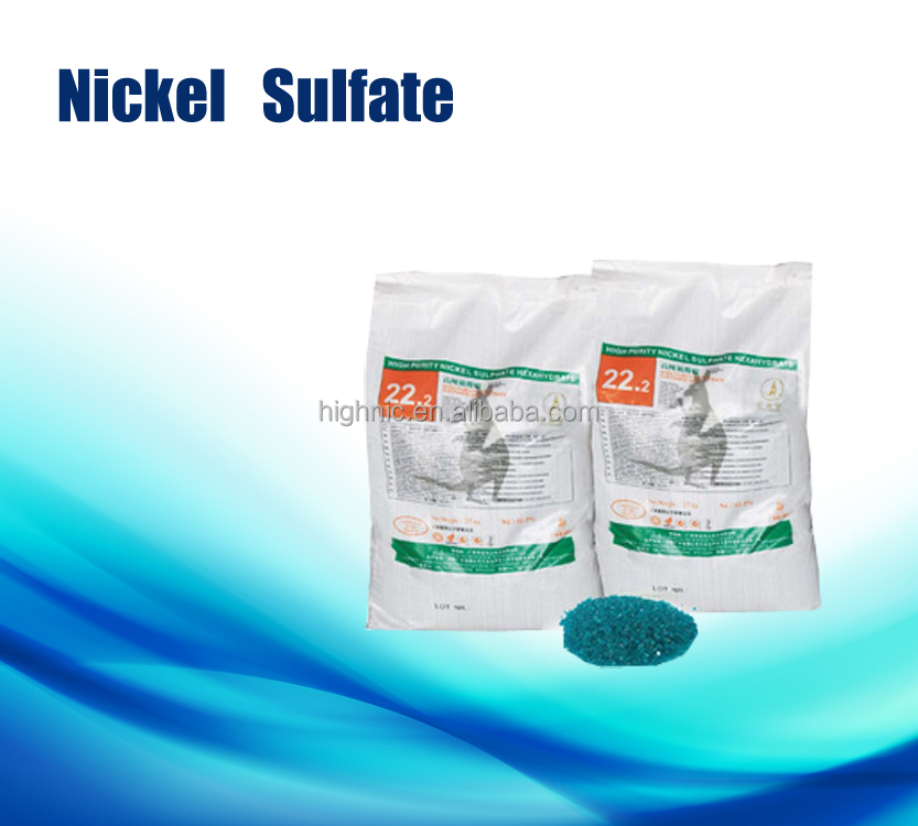 high purity:Ni>22% Nickel sulfate hexahydrate