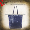 Hot sale and new design for 2014 vintage blue canvas clear tote bags