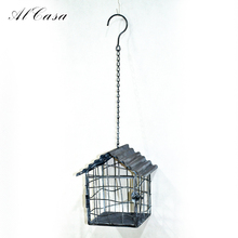 Home decor antique powder coated wall mount decorative weddings vintage iron wire bird cage