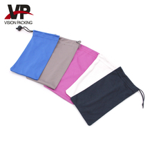 Custom solid color microfiber eyeglass pouch