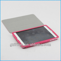 rose red semi-enclosed smart leather for ipad mini case