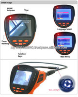 Hot sale borescope endoscope inspection camera with recording 99E with 3.5 inch color LCD Display