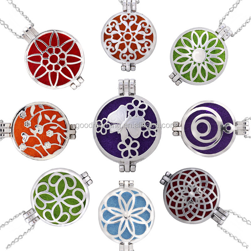 100% Stainless Steel Essential Oil Diffuser Pendant Necklace