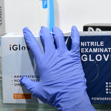 Nitrile gloves purple for food use