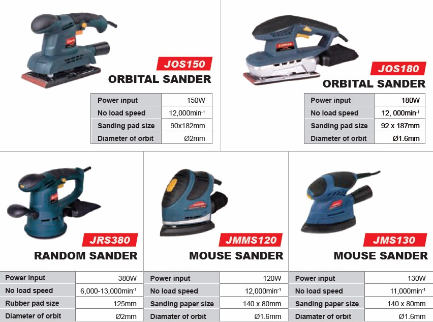 JOS150 150W orbital electric sander