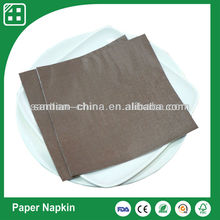 brown color disposable luxury paper napkin folding, napkin paper
