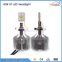 2015 New canbus H7 Led headlight super bright 45W 4500LM auto car parts replace Xenon hid kits factory cheap sale